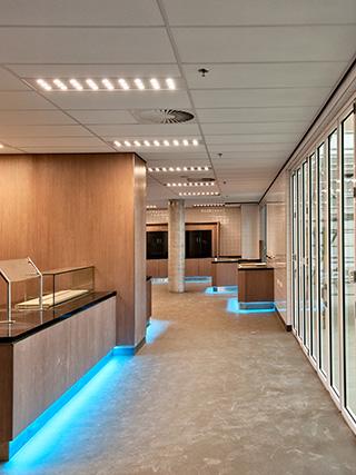 daarom hebben separate klaslokalen kantoorruimtes en toiletten led verlichting die worden aangestuurd door aanwezigheidsdetectoren